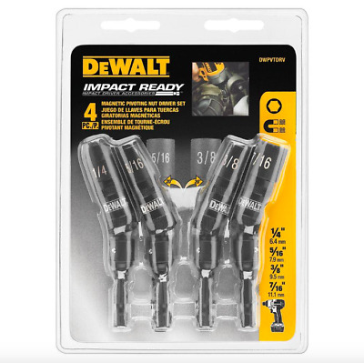 Dewalt Magnetic Pivot Nut Impact Wrench Driver Set 4 Pack Extender Drill Drivers
