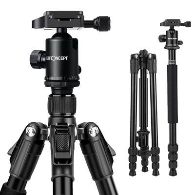 K&F Concept Pro Aluminum Tripod & Ball Head for DSLR SLR Camera w/ 4 Sections