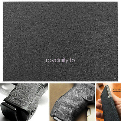 "New Grips Material Sheet 5""x7"" BLACK Textured Rubber Grip Tape"