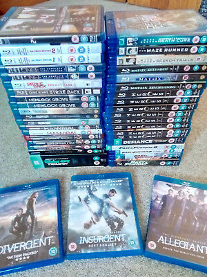 Big Blu Ray Collection Job Lot Bundle Top of the Line Titles UK Releases