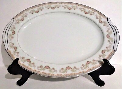 Lovely Noritake (RC) Japan Fine China ~16 inch OVAL PLATTER N560 Rose Swags