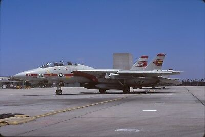 "original slide  F-14A  162597 ""NE""  VF-1 CAG  Jun 91"