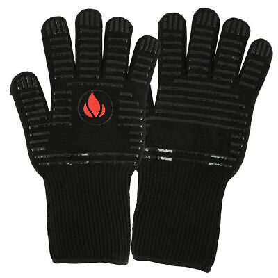 BBQ Oven Cooking Mitts 1 Pair Heat Resistant Heat Proof Gloves Kitchen