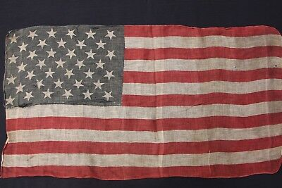Antique Flag with 39 Stars Old, Authentic, Rare.circa 1889