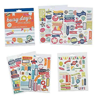 Set di adesivi per planner e scrapbook Busy Days di Boxclever Press. 238 ad