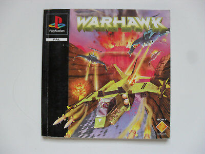 Original manual for WARHAWK - Playstation 1