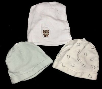 Baby Infant 0-6 Month Beanie Hats (3 In Total) Gerber & Sterling Baby