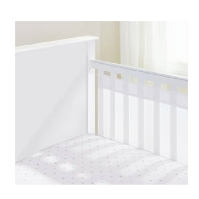 Breathable Baby AirflowBaby Airflow 2 Sided Solid End Cot Liner/Bumper - NEW