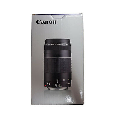 Canon EF 75-300mm f/4-5.6 III Lens Black - 1 Year Warranty