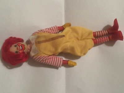 Vintage 1976 Remco McDonald's Ronald McDonald Action Figure 8 Inch Doll Outfit