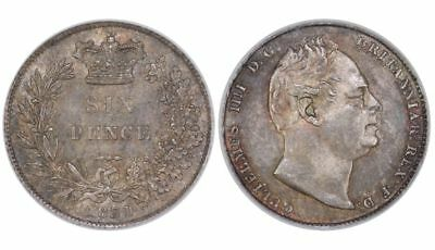 1831 Sixpence, CGS 78(MS 63-64), William IV, ESC 1670, UIN 19142