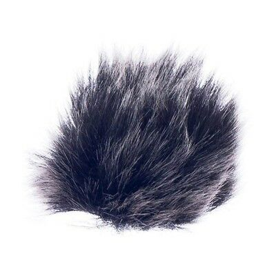 Black Fur Microphone Windshield For Lapel Lavalier Microphone R9F4