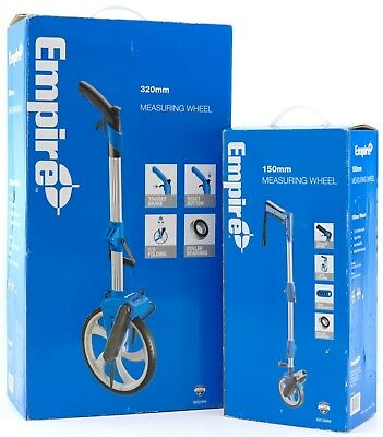 Empire Folding Measuring Wheel with Carry Bag 320mm/150mm EM320MW EM150MW
