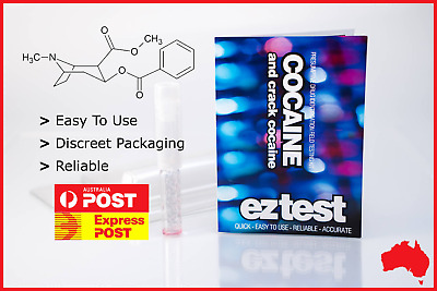 EZ TEST KIT FOR COCAINE AND CRACK IDENTIFICATION (Free Tracked Shipping)