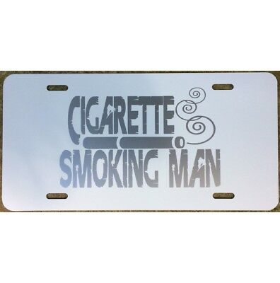 X-Files inspired Cigarette Smoking Man License Plate Car Tag