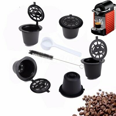 6X Refillable Reusable Coffee Capsules Pod For Nespresso Stainless Steel Filter
