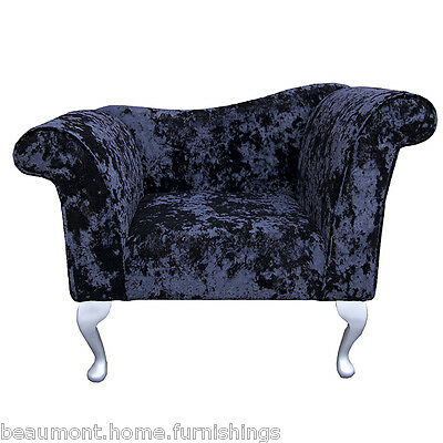 """37"""" Small Chaise Longue Lounge Seat Armchair Arm Chair Night Fabric Queen Anne"""