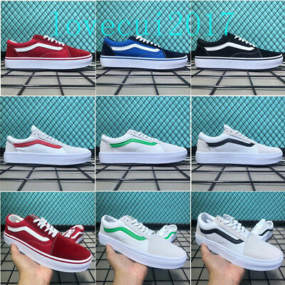 New Vans Old Skool Skate Shoes Classic Canvas Sneakers All Sizes