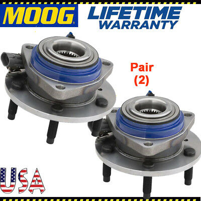 MOOG Set(2) Front Wheel Hub Bearing Assembly for Chevy Pontiac w/ ABS 513121