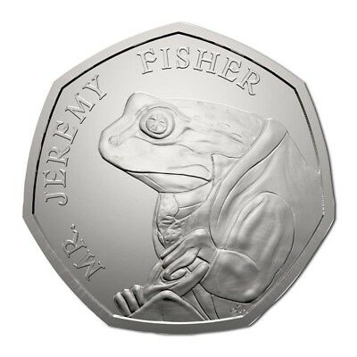 2017 Jeremy Fisher 50p Beatrix Potter Fifty Pence Coin
