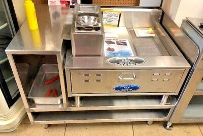 Hot Dog Cooker Italian Hot Dogs Fryer or Funnel Cake Fryer with Stand