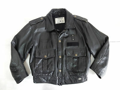 Chevignon Vintage Jacket Giacca Aviator Motorcycle Pelle Leather