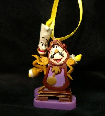 Disney Classic Beauty and the Beast Lumiere and Cogsworth Christmas Ornament
