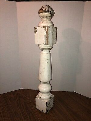 Vintage Antique Architectural Salvage Wood Stair Newel Post Victorian Banister