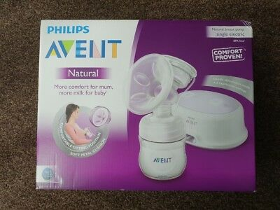 BRAND NEW & SEALED Philips Avent Natural Comfort Electric Breast Pump SCF332/01