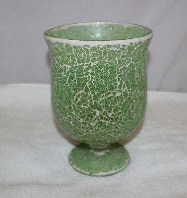 Green Glass Vase 1425 Picclick