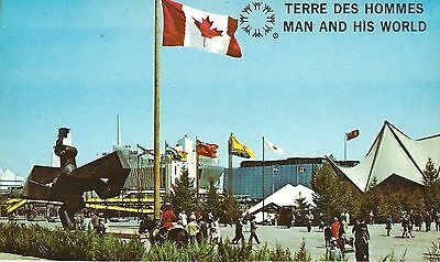 """MONTREAL EXPO 1967 Postcard - MAN AND HIS WORLD """"ILE NOTRE DAME"""" - UNPOSTED"""
