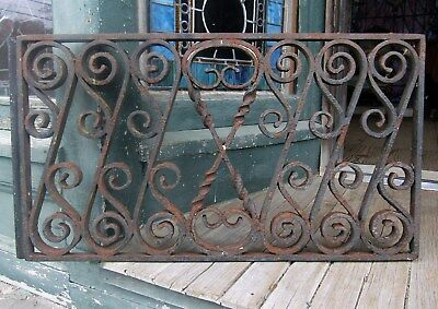 Antique Wrought Iron Window Grate - Iron Fence