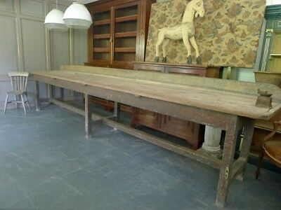 19TH CENTURY Irish Work Height Scullery table.