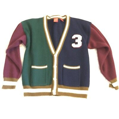 Vintage Tomorrows Generation Letterman Cardigan Sweater Youth Size 16/18