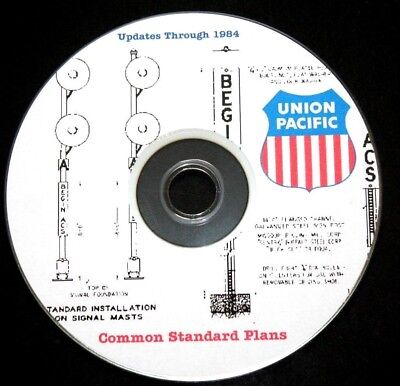 Union Pacific Railroad Standards Drawings Through 1984,  PDF Pages on DVD