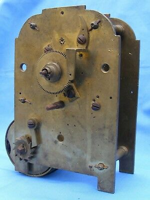ANTIQUE SINGLE FUSEE EARLY 19thC CLOCK MOVEMENT.