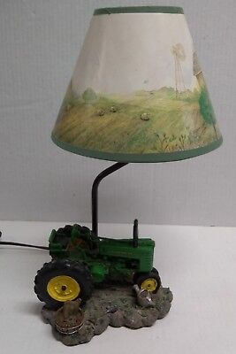 John Deere Tractor Table Desk Lamp With Farm Shade AUTHENTIC JOHN  DEERE 309702