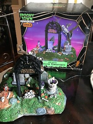 """Lemax Spooky Town collection """" Restless Tombstones """""""