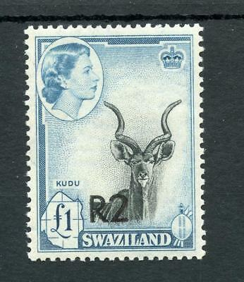 Swaziland 1961 2r on £1 Type II (bottom) SG77b MVLH cat £150