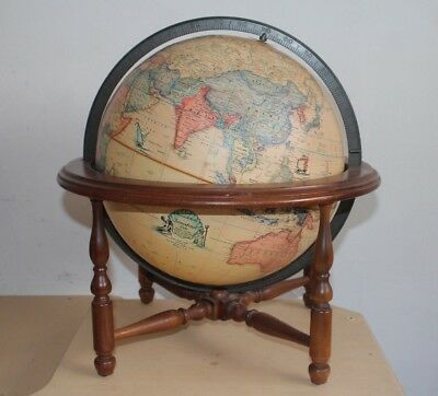 "Rand McNally 12""Inch Terrestrial Globe 1970's Raised Topography"