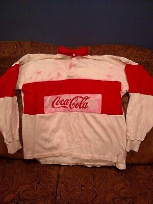 Vintage Coca Cola Rugby Shirt Size Small