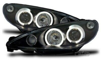 Fanali / Fari con Angel Eyes PEUGEOT 206 / 206 CC - LED BIANCO !