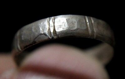 Viking Silver Finger Ring with  decoration   900-1000 AD
