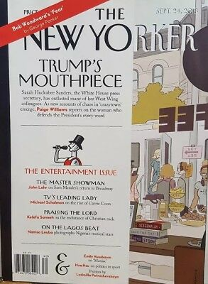 The New Yorker Sept 24 2018 Trump's Mouthpiece FREE SHIPPING CB