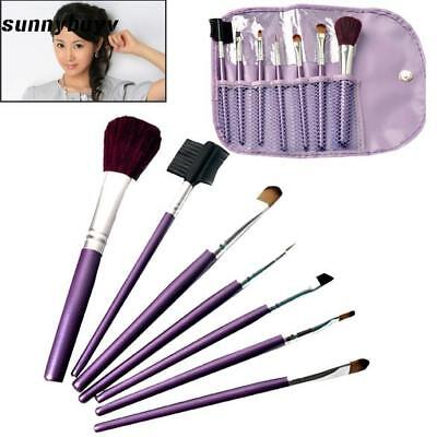 Professional Beauty Make up Set with Case Cosmetic Brush 7pcs Eye Face RR3