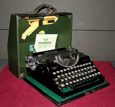 Awesome CONTINENTAL typewriter from 1929 (first model) ,..WORKING ! ( see video)