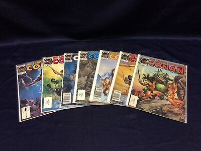 Marvel Magazine The Savage Sword of Conan Lot of 7 1980's