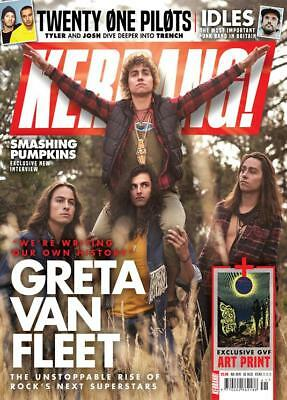 UK KERRANG! magazine October 2018 Greta Van Fleet + art print Twenty One Pilots