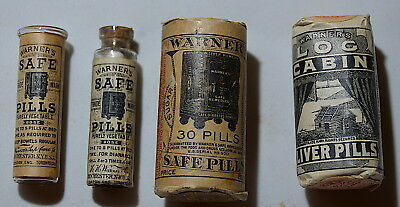 Lot of Three (3) Warner's Remedies, Safe Pills and Log Cabin Liver Pills