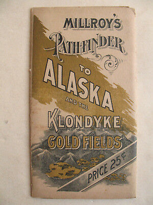 original 1897 Millroy's Pathfinder Alaska Klondyke Klondike Gold Fields old map